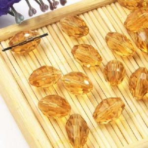 Beads, Auralescent Crystal, Crystal, Light brown , Faceted Oval, 8mm x 8mm x 12mm, 1 bead [Sold Individually], [ZZC256]